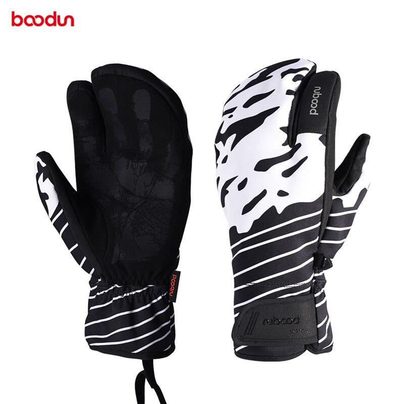 Boodun New Winter Men Women Ski Gloves Touch Screen Outdoor Sports Skiing Gloves Windproof Waterproof Oxford Cloth Snow Gloves